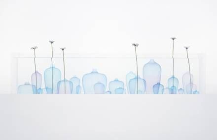 Poetic Jellyfish Vase Installation by Nendo