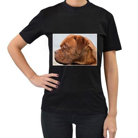 Dogue+De+Bordeaux+2+Women's+T-Shirt+(Black)