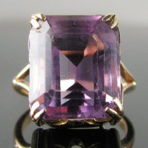 #Vintage #Amethyst #Ring in #Unique 9k #Gold #setting €595
