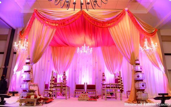 The Indian wedding mandap decor.