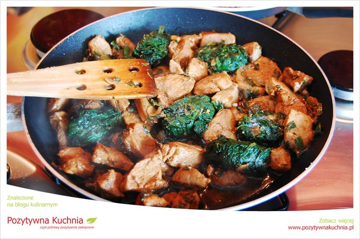 Wieprzowina ze szpinakiem i sezamem - prosty #przepis na obiad  http://pozytywnakuchnia.pl/wieprzowina-w-sezamie-i-szpinaku/  #szpinak #wieprzowina