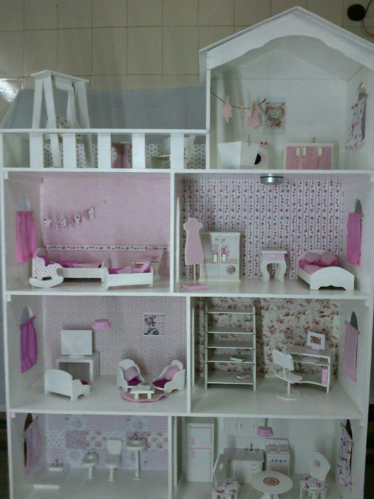 Casita De Muñecas Barbie..decoración Soñada!! 4 Pisos..xxl ! - $ 2.499,00 en MercadoLibre