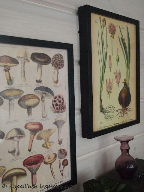Kopallinen inspiraatiota: Vintage taulut seinälle