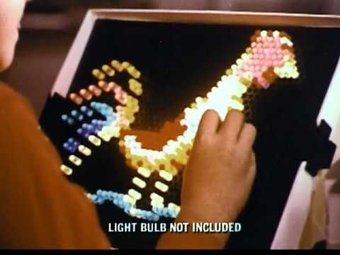 The original 1970's Lite Brite toy commercial! #cantresist