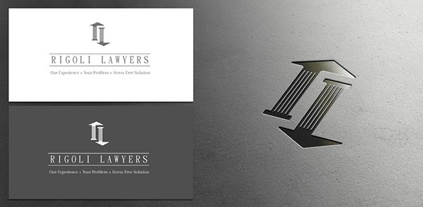 Divorce law firm RL logo on Behance