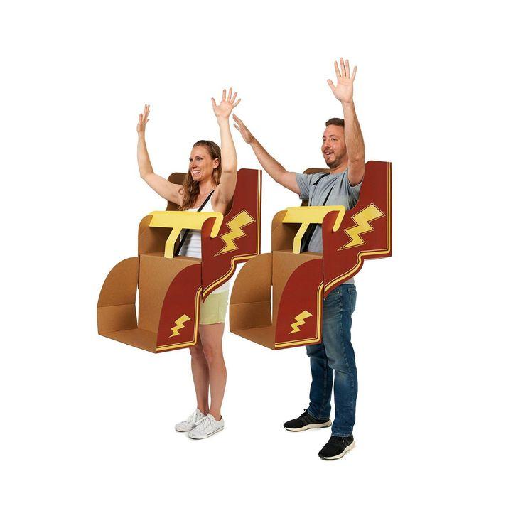 Halloween Adult Roller Coaster Diy 4pk Cardboard Group Costume Kit, Adult Unisex, Multi-Colored