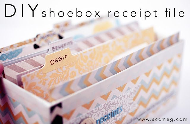 Stitch Craft Create: Blog: DIY Shoebox Receipt File  *I see a nice coupon holder or recipe box Myself