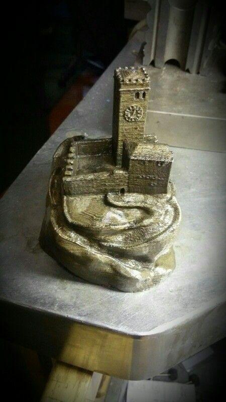 Modello 3d castello Castello Gemona del Friuli disegnato da MLD