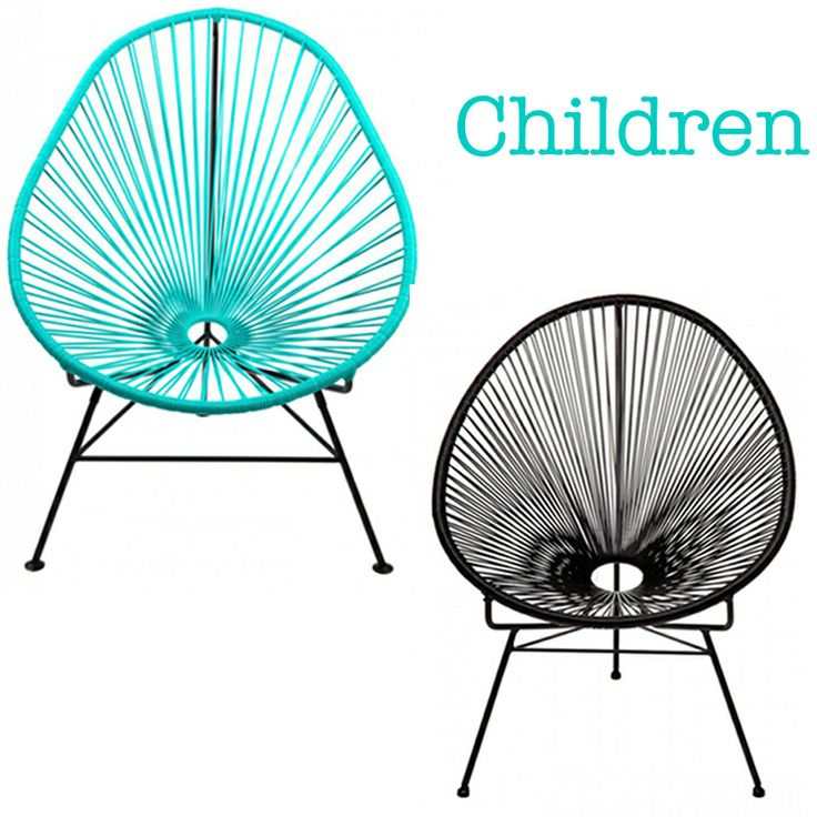 Lovely chairs for children. For inside and outside use. http://www.landromantikk.no/interior/hage-terrasse.html