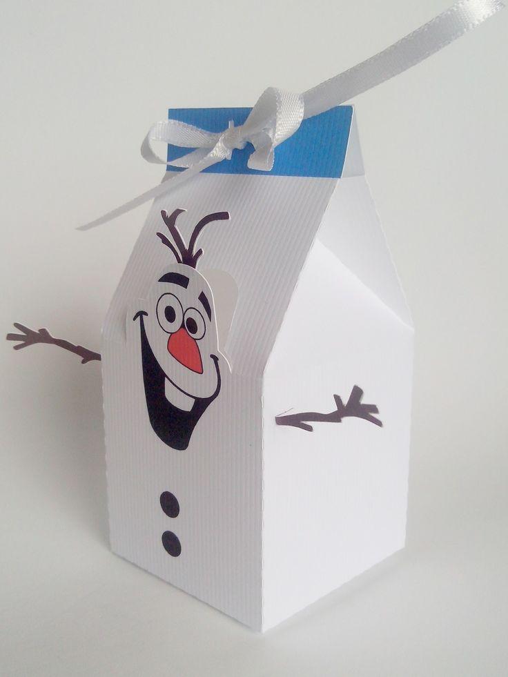Caixa Boneco de Neve Olaf   Pokopous   Elo7