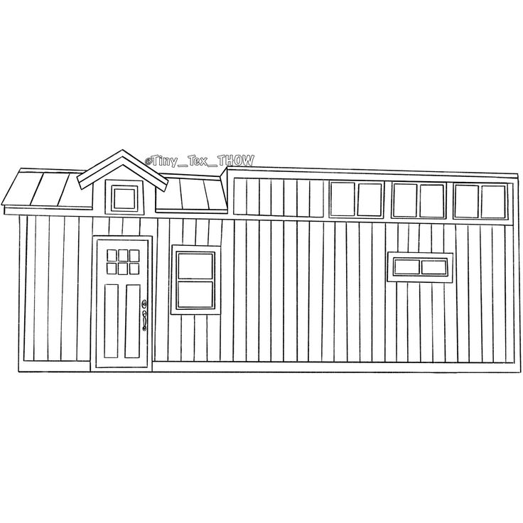 Tiny House Sketch House Outline House Sketch Tiny House