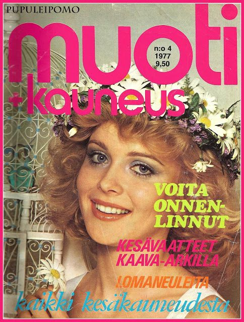 Muoti + Kauneus 70-luvulta, kansi Armi Aavikko