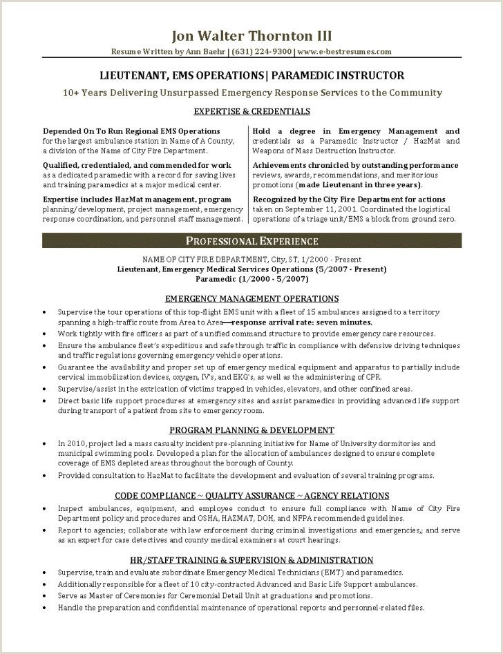 Fire Department Promotional Resume Template Resume Examples Resume Template Examples Resume