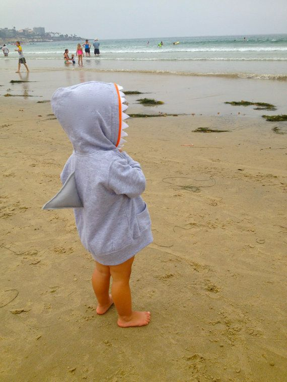Shark Children's Hoodie by busybelleshop on Etsy, $28.00