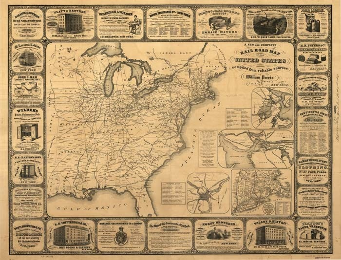 Us Railroad Map Globalinterco - Map of the railroad system in the us