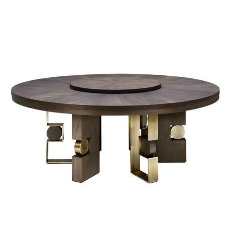 shop smania rodrigo circular dining table at luxdeco