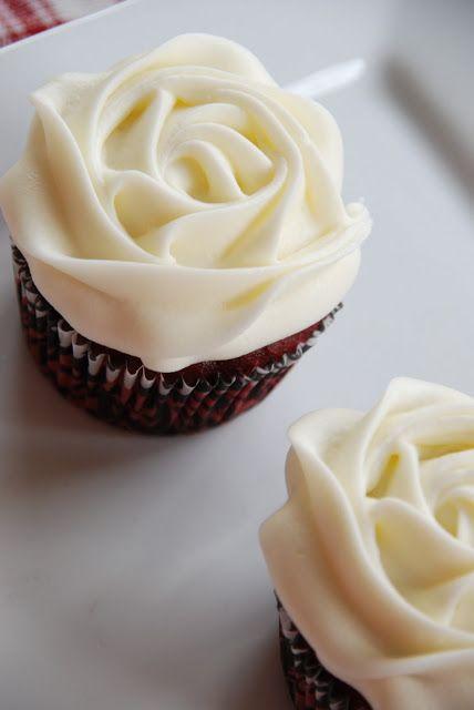 Rose top, Red Velvet Wedding Cupcakes