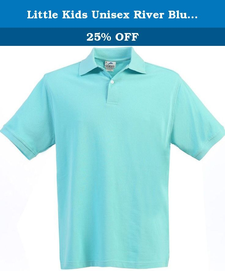Little Kids Unisex River Blue Short Sleeve School Uniform Polo Shirt 7. A great polo, the perfect school uniform item suitable for both girls and boys. Featuring a 2 button placket, a fold-over collar and short sleeves, this river blue polo ensures comfort and style in the same time. Must have for the upcoming school season. Multiple colors available.