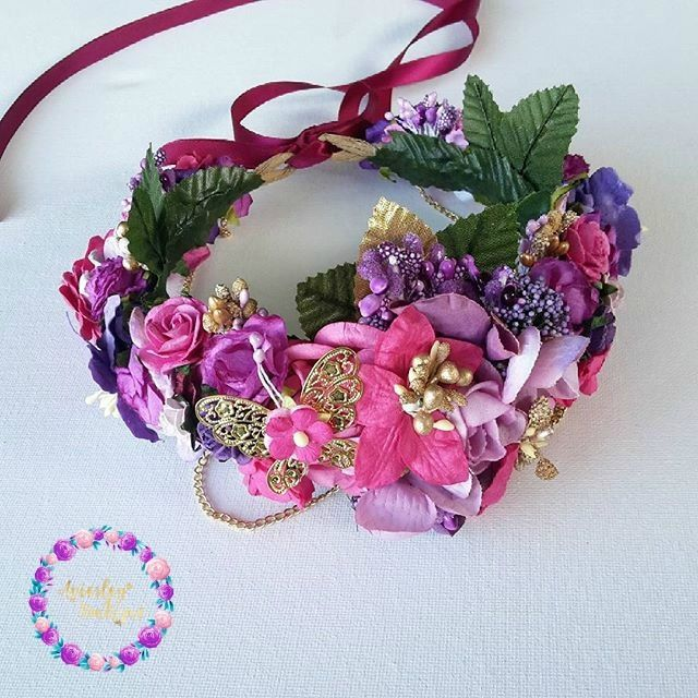 Whimisical in inspired floral crown