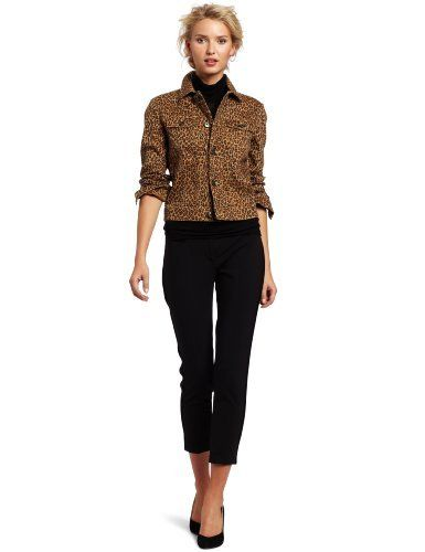 Isaac Mizrahi Jeans Women's Lyla Crop Jacket Isaac Mizrahi Jeans. $108.00. 98% Cotton/2% Spandex. Classic fit jkt. Made in China. Machine Wash. Leopard print