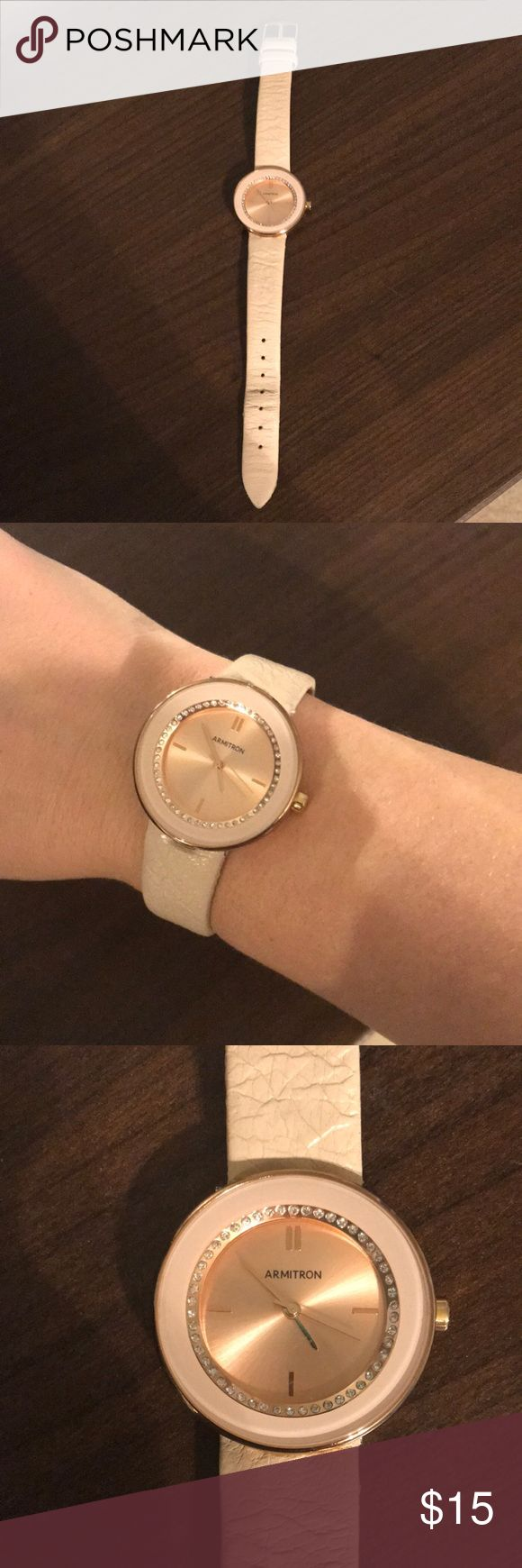 Armitron light pink and rose gold watch Kate Spade lookalike watch! Good condition. Armitron Accessories Watches
