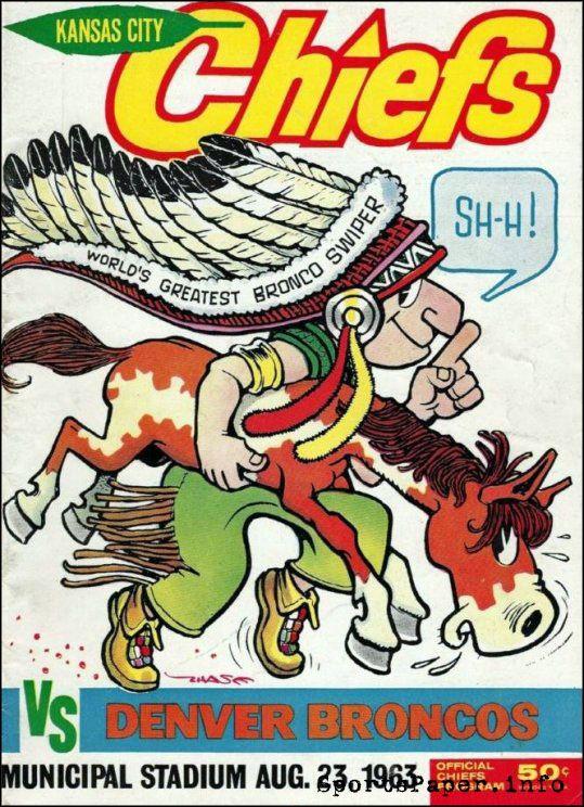 AFL Game Program: Kansas City Chiefs vs. Denver Broncos (August 23, 1963)