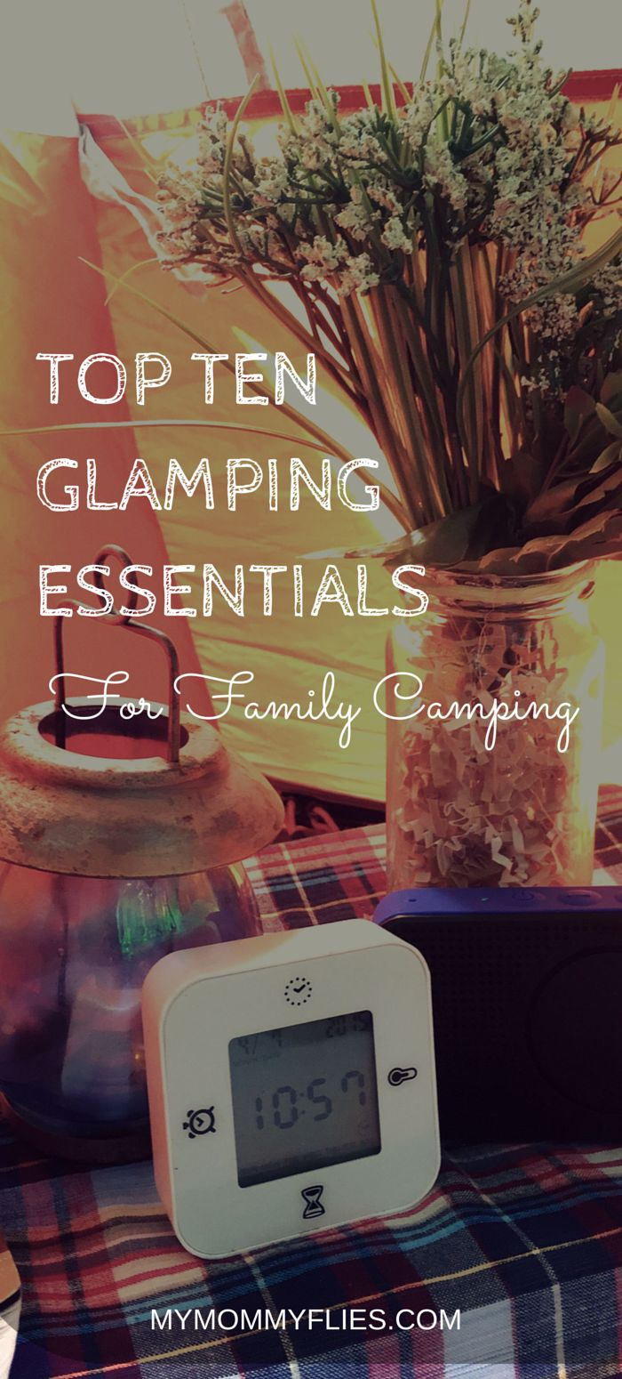 Glamping Essentials is simple and practical.  It's better to start by adding small luxuries and comfort items to your camping trip than hauling in the crystal chandeliers and bearskin rugs.