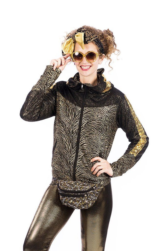 State of Disarray! Gold Sonic Boom Retro Space - Jacket  #stateofdisarray #recklessfashionrevolution #festivalfashion #festivaloutfit #streetstyle #fashiondesigner #summerstyle #ootd #futureretro #slimcuthoody #hoody #animalprint #metallic #fashionweek #ravewear #clubkid #edm #secretgardenparty #burningman #boomtown #coachella #glastonbury #ibiza #shambala #rainbow #psychedelic #80's #fancydress #dressup #costume #statementfashion #harajukufashion #kawaiifashion #cosplay #glitter #zebraprint