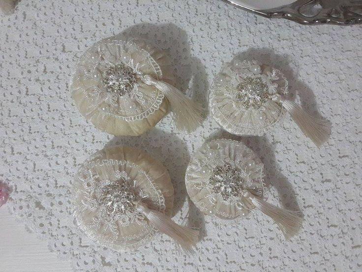 lavanta keseleri süslü sabunlar