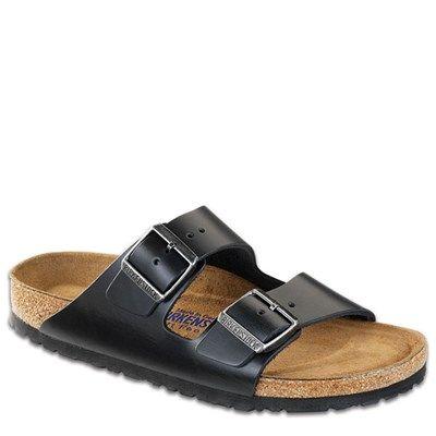 Birkenstock Arizona Leather Soft Footbed Black - HappyFeet.com