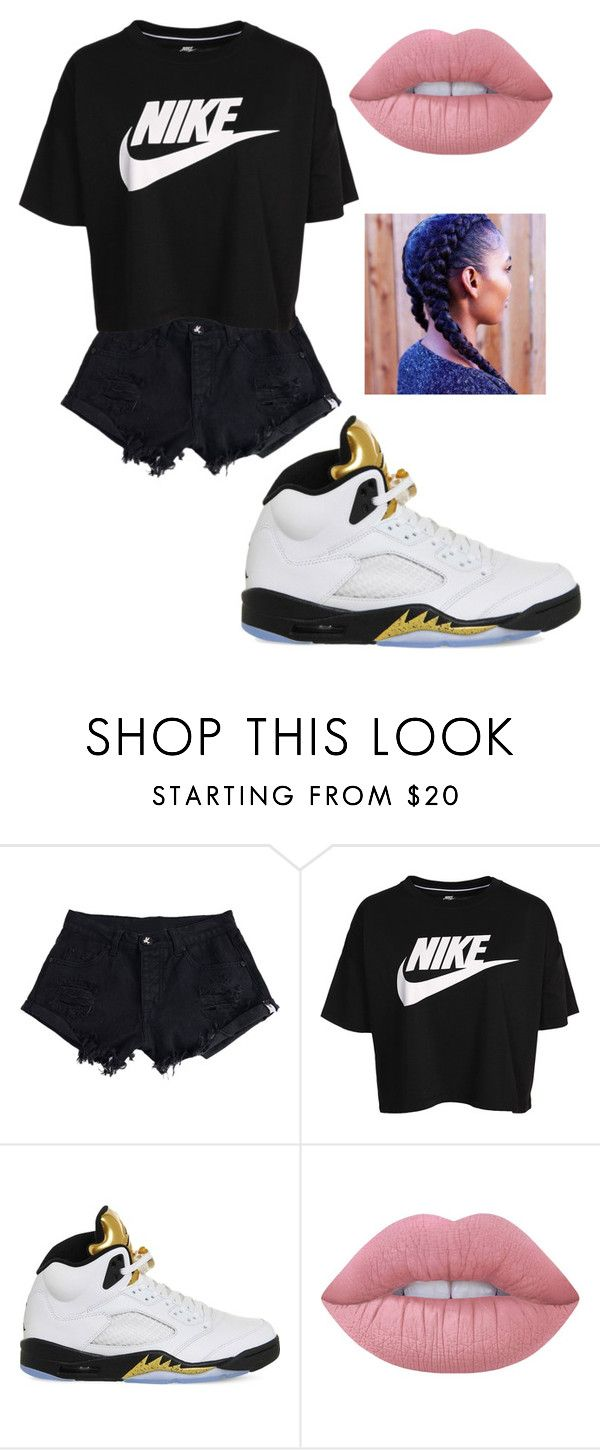 """""""regular summer day outfit"""" by d-baby23 on Polyvore featuring WithChic, NIKE and Lime Crime"""