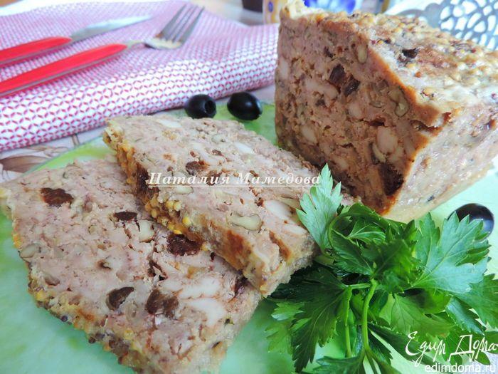 Куриный хлебец с орехами и черносливом. Очень вкусная, необычная мясная закуска, приятного аппетита! #едимдома #готовимдома #закуски #рецепты #вкусно #домашняяеда #кулинария #кухня