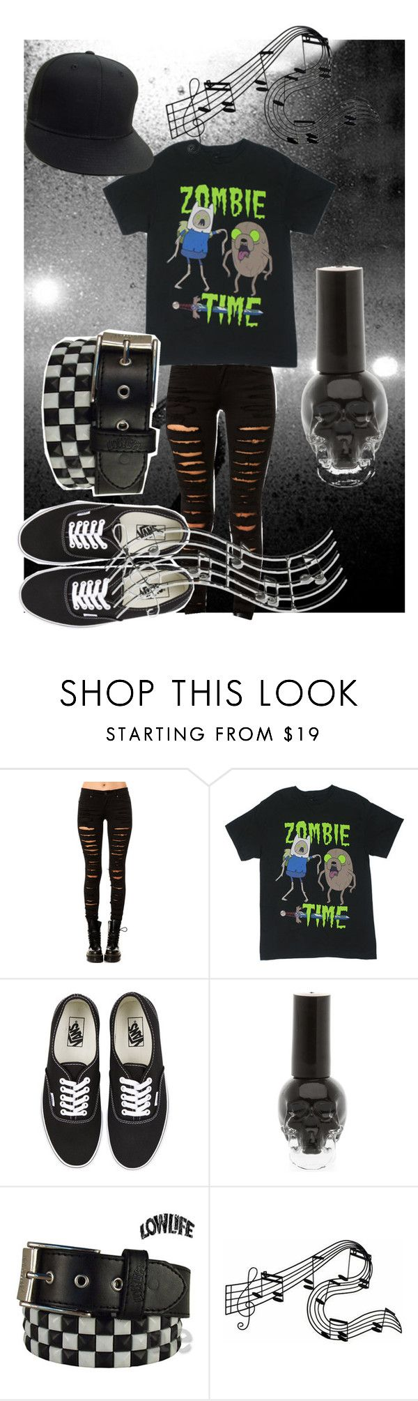 """Gig"" by perfect-in-black ❤ liked on Polyvore featuring Tripp, Vans, Lowlife, WALL and Music Notes"