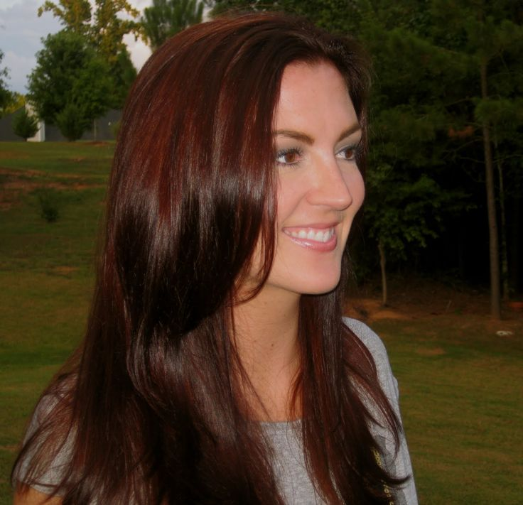 Dark Brown Hair With Red Tint