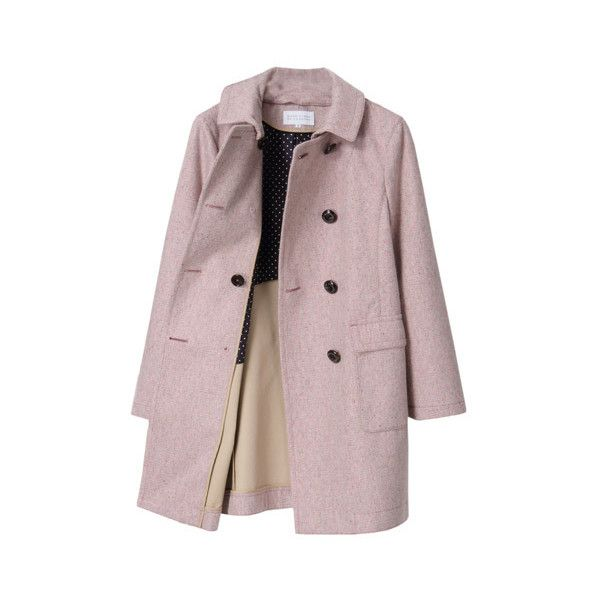 MACKINTOSH PHILOSOPHY ウールツイード ボンディングコート ($625) ❤ liked on Polyvore featuring outerwear, coats, coats & jackets, jackets, women coats and brown coat