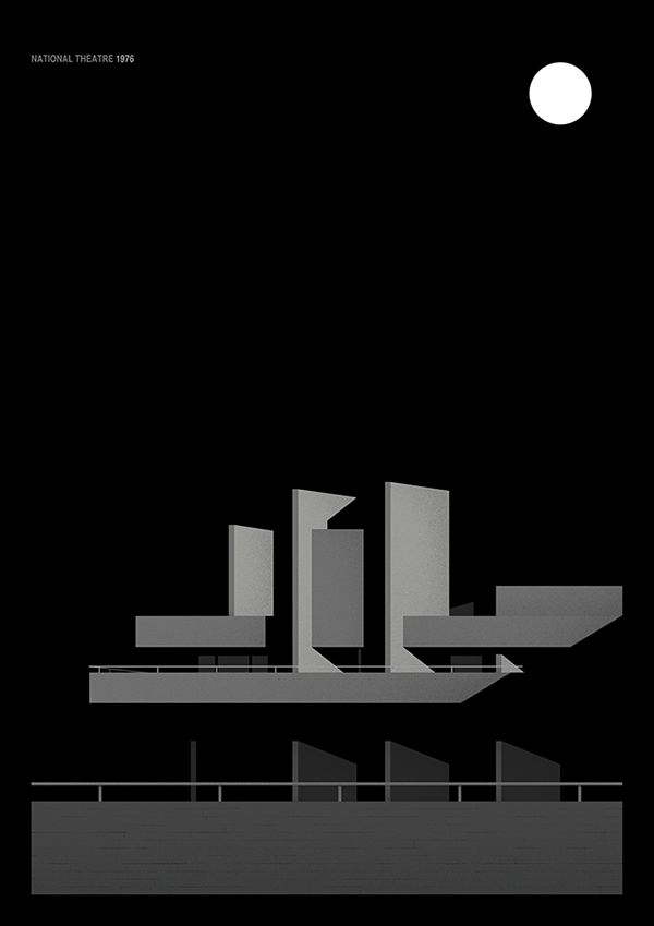 Thomas Anthony - Brutalism architecture, The National Theatre, 1976