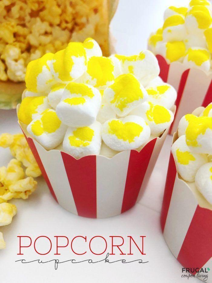 Popcorn Cupcakes Recipe Game Night Snacks Cupcake Recipes