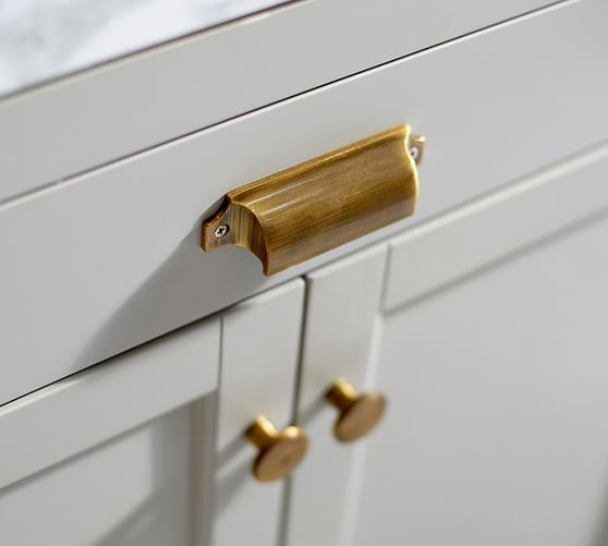 davis custom single wide wdrawer sink console additional hardware 10 pulls 2 knobs brass