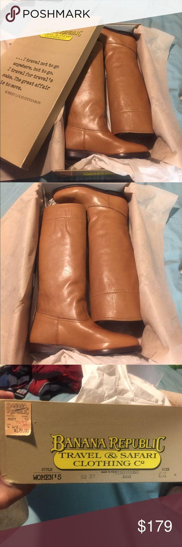 Banana Republic Leather Boots 30 - Year Old Banana Republic Leather Boots. Authentic 1988 Boots . BRAND NEW  w / Box And Tags ! Never Worn Banana Republic Shoes