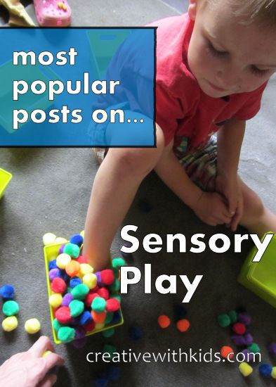 Top 10 Most Popular Sensory Activity Posts on Creative With Kids