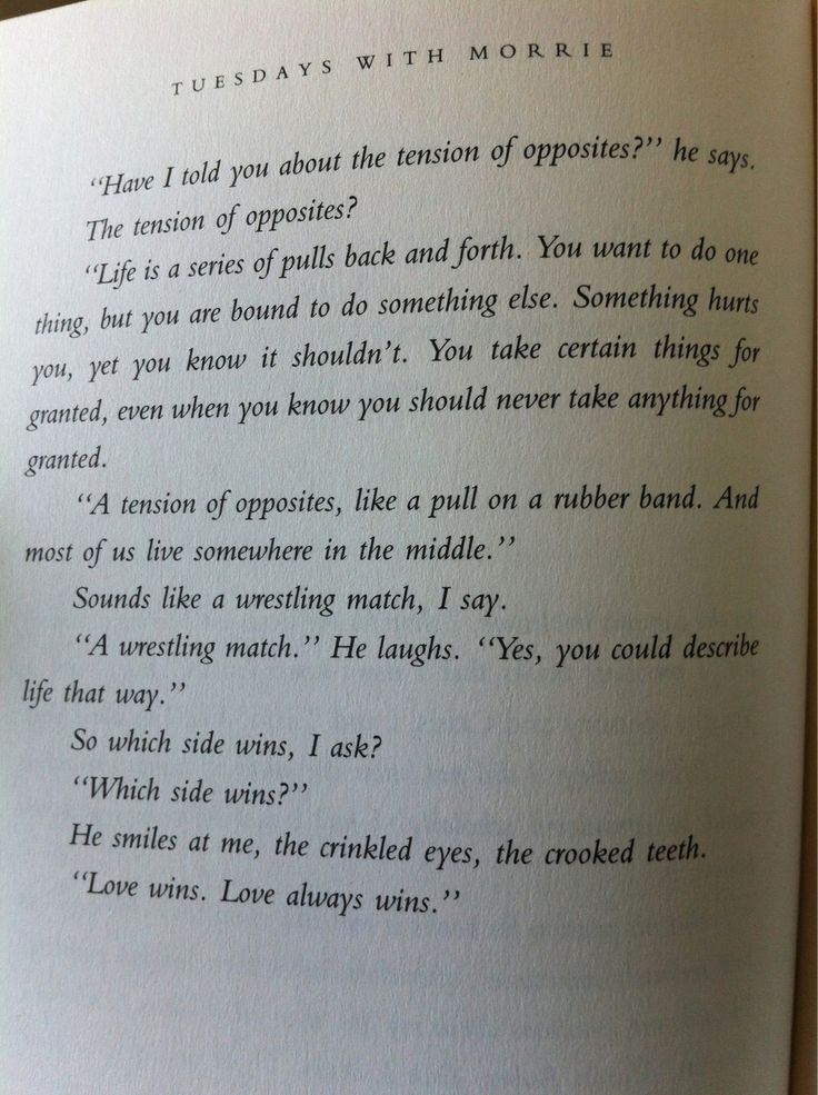Tuesdays With Morrie - Mitch Albom LOVE THIS BOOK!