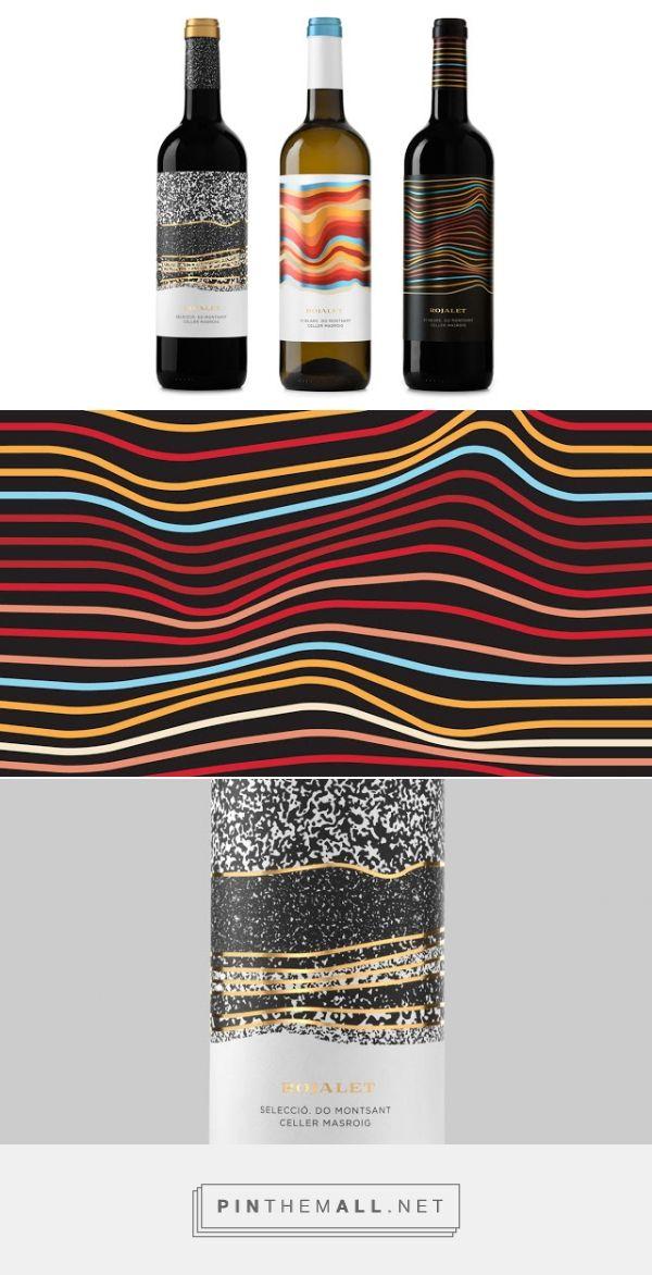 Rojalet Wines packaging designed by Atipus Disseny Gràfic - http://www.packagingoftheworld.com/2015/09/rojalet-wines.html