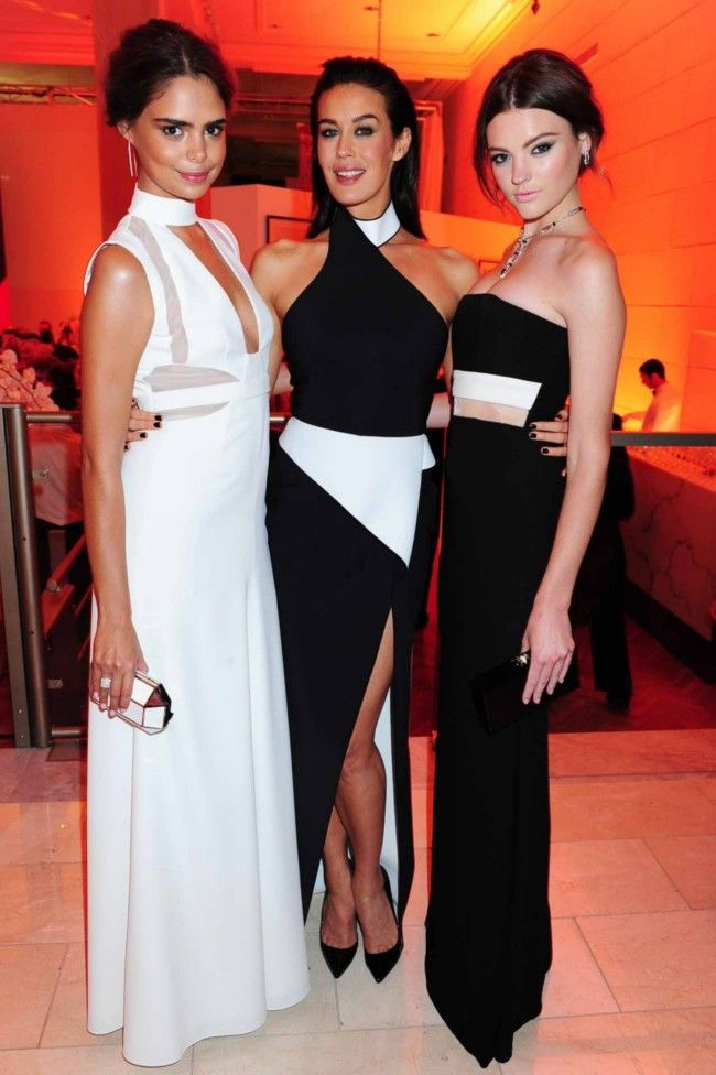 Sam Harris, Megan Gale and Montana Cox at the David Jones 175th Anniversary.