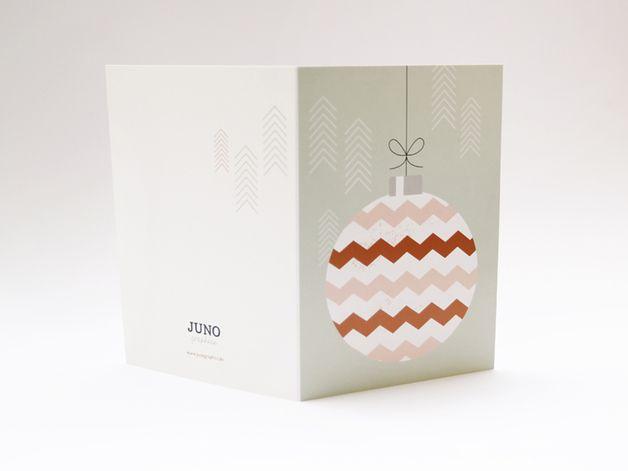Weihnachtskarte als Klappkarte im Format A6 (10,5 x 14,8 cm) mit passendem C6 Umschlag.  Mit dieser Klappkarte kannst Du ausserdem eine kleine Weihnachtsbotschaft als Baumschmuck direkt unter den...