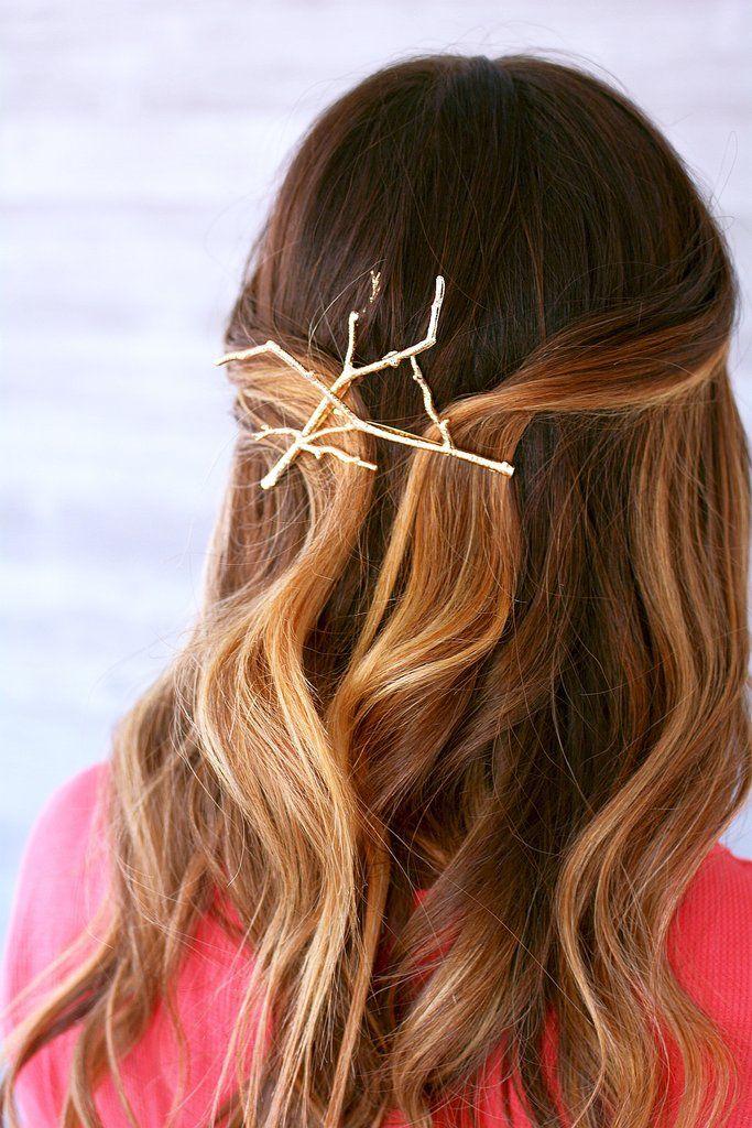 Metal Twig Hair Pins Hairstyles Hairdo Updo Hairstyleideas Long Hair Styles Hair Styles Haircuts For Long Hair