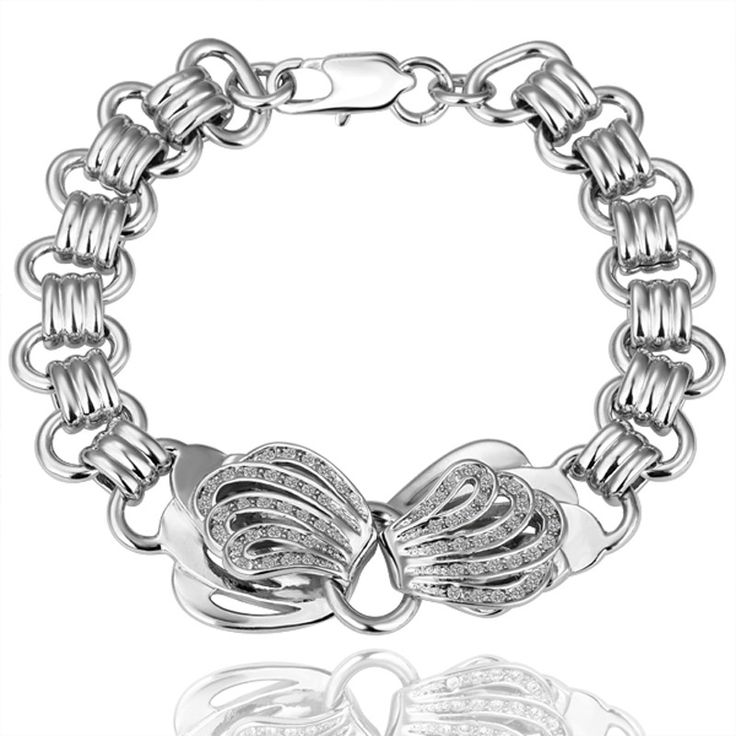 Nicola White Gold Plated Chain Bracelet
