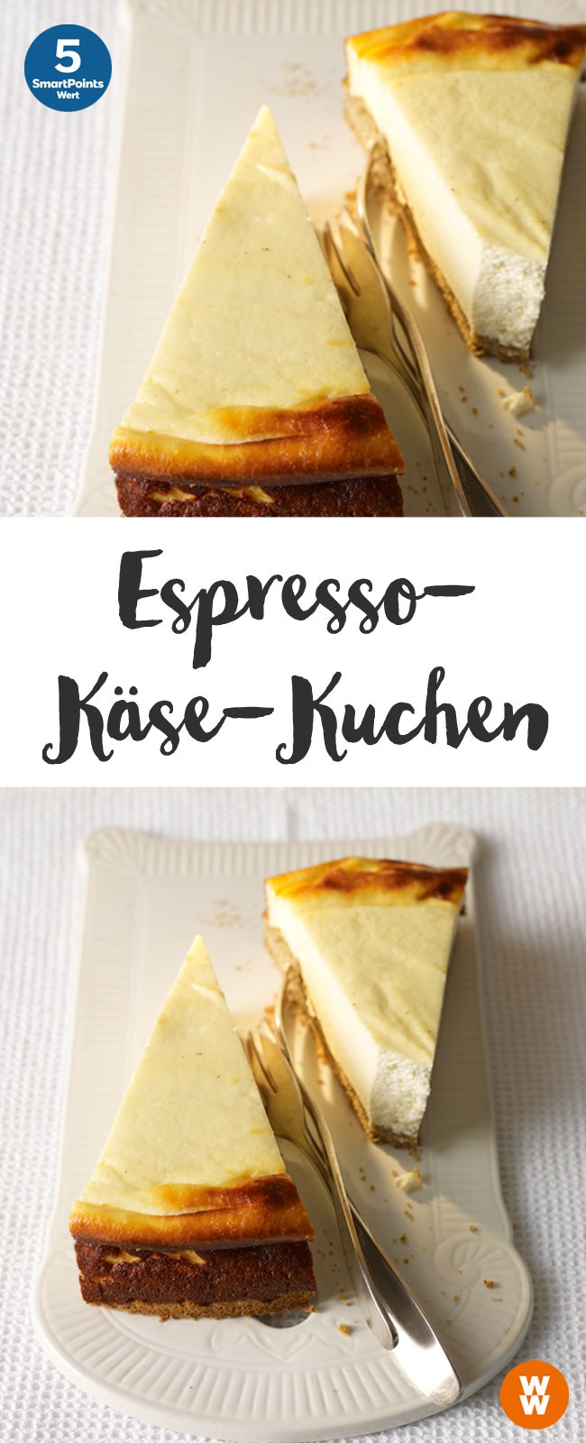 Espresso-Käse-Kuchen, Käsekuchen, Kuchen, Dessert | Weight Watchers