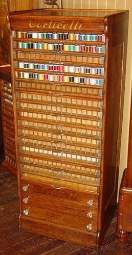 122 Best Images About Antique Spool Thread Cabinets On