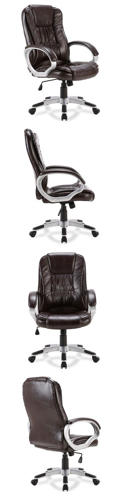 Office Furniture: Executive Ergonomic Office Chair Pu Leather High Back Computer Desk Task (Mocha) -> BUY IT NOW ONLY: $69.95 on eBay!