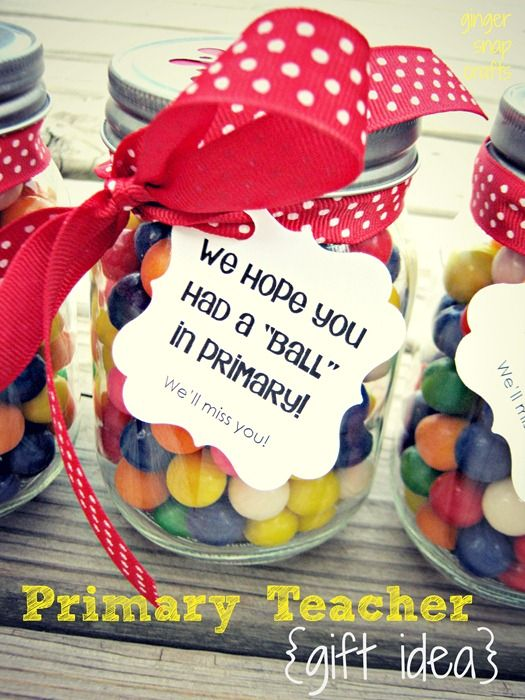 Primary teacher gift idea from Ginger Snap Crafts